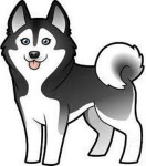 gallery/cute-husky-clipart-1